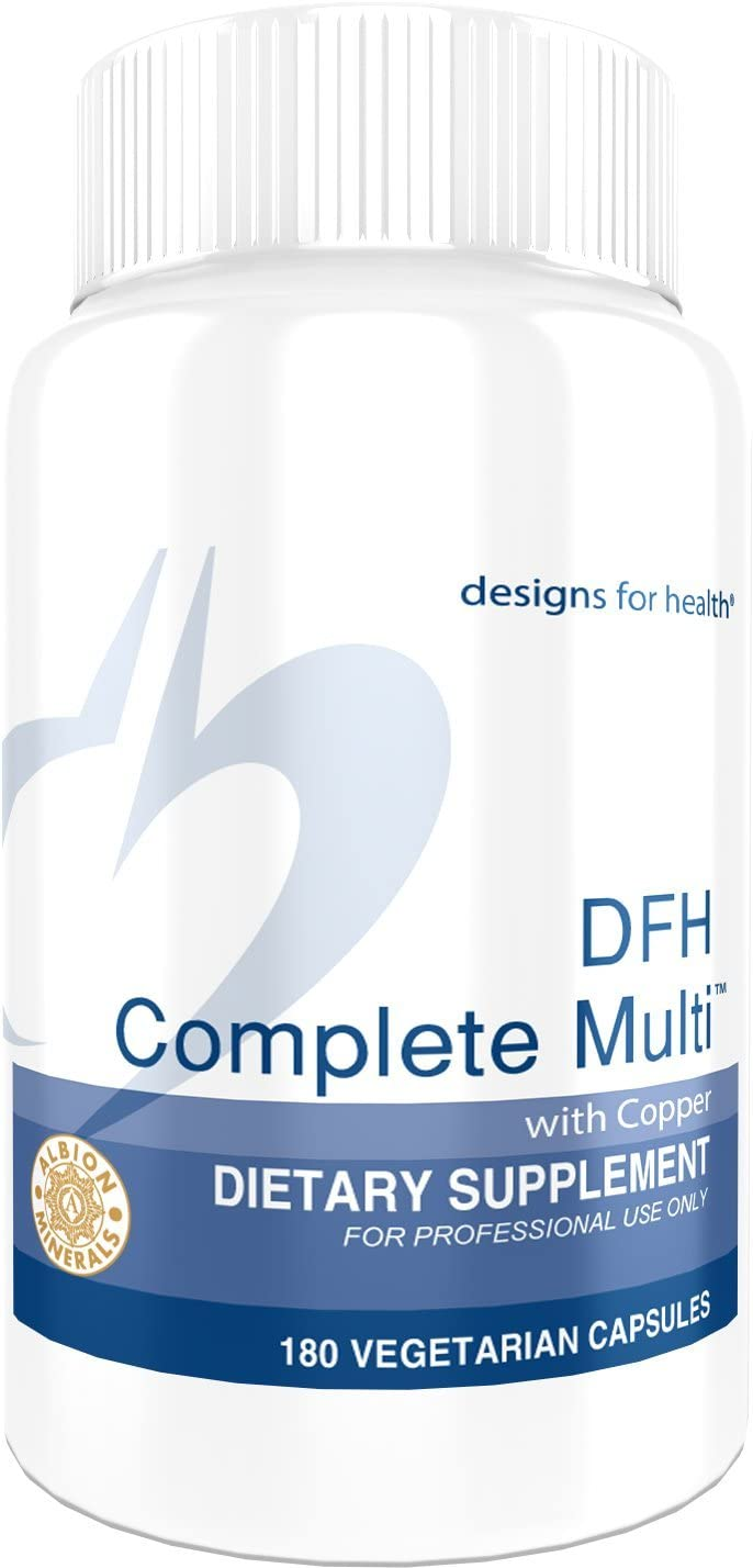 Designs for Health DFH Complete Multi with Copper - Full Spectrum Multivitamin, Multimineral with no Iron (180 Capsules)