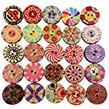Belegend 100 Pcs Resin Round Buttons Sewing DIY Scrapbooking Decals for Kids Crafts Accessories 15 Mm
