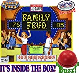 Family Feud Deluxe 40th Anniversary RETRO Edition with Classic Console & Electronic Red 3 Mode Game Answer Buzzer and Count Down Timer - Matty's Toy Stop Exclusive!