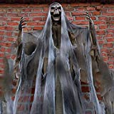 70In Halloween Ghost Decorations Scary Props Life Size Hanging Skeleton Flying Ghost Decor for Yard Outdoor Indoor Party (Yellow, 1 PCS)