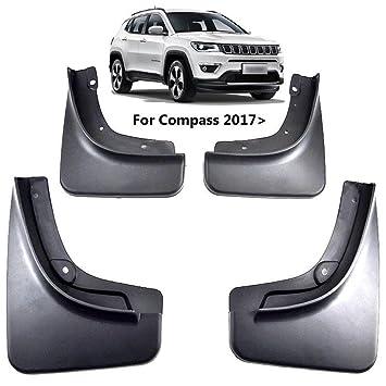 Supercobe - Guardabarros para barro con solapas para Jeep Compass 2017 2018: Amazon.es: Coche y moto