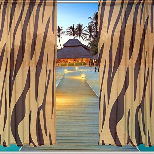 Q38 Clip (ALAZA Window Sheer Curtain Panels,Christmas Decoration Sexy Leopard Print,Door Window Gauze Curtains Living Room Bedroom Kid Office Window Curtain 55x84inch Two Panels Set)