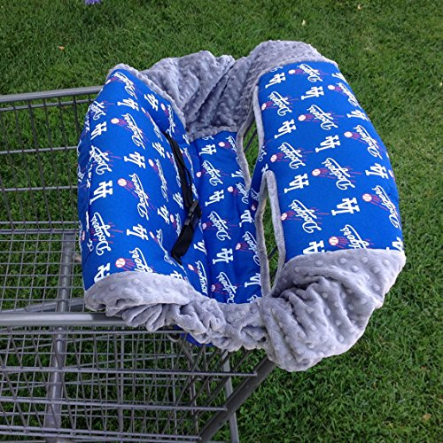 Shopping Cart Cover- LA Dodgers/ Grey by Baby Twin