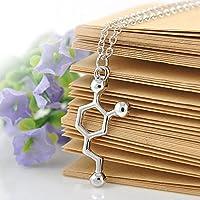 Ransopakul DNA Necklace Serotonin Dopamine Acetylcholine Biochemistry Molecule Pendant Gift