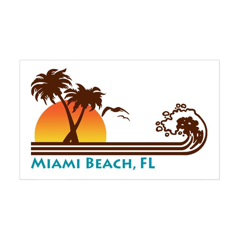 特価ブランド (3x5, - White) - CafePress Miami FL Beach FL Rectangle Sticker Rectangle Sticker Rectangle - 3x5 White Small - 3x5 ホワイト B00PKNUSN6, TOP JIMMY(トップジミー):6dad40f9 --- mvd.ee