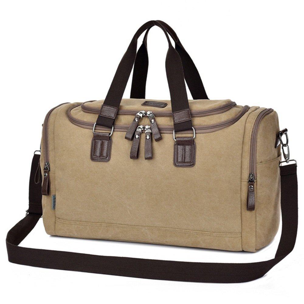 旅行用バッグ キャンバスバッグバッグバッグポータブル大容量屋外多機能トラベルバッグ キャビンオンフライト&ホールドオール B07Q2JYD1S