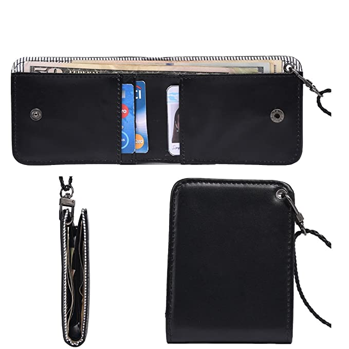 outrip cuello de viaje de piel tipo cartera funda para tarjeta de identificación RFID bloqueo bolsa de cuello: Amazon.es: Ropa y accesorios
