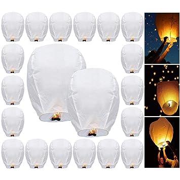 Lanternes Volantes Topdirect Piéces 20 Blanches Céleste 100 lJTF13ucK5