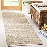 Safavieh Cape Cod Collection CAP820D Hand Woven Grey and Natural Jute and Cotton Runner (2'3'' x 8')