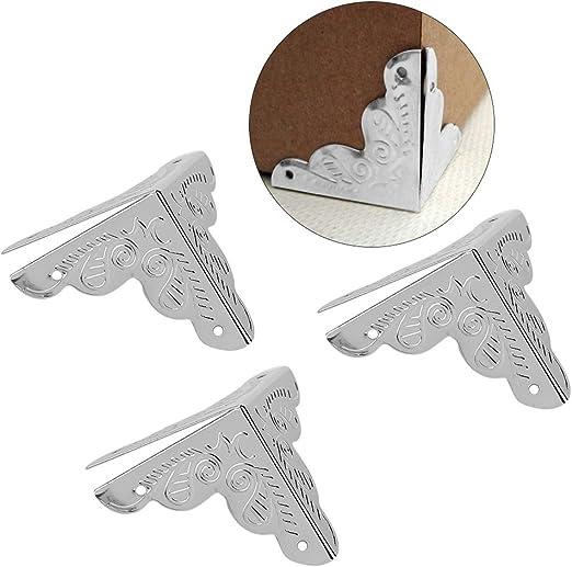 Haofy 12 Piezas Protector de Esquina de Metal en Forma de ...