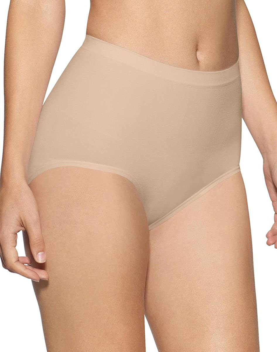 777967bd3 Bali Seamless Brief Ultra Control 2-Pack 2 Soft Taupe X-Large at Amazon  Women s Clothing store