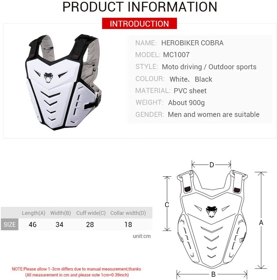 Men Sport Back Protection Vests Gear Protective Motorcycle Armor Body Guard Vest Street Bike Riding Off-Road Racing Cycling Skiing Motocross Adult Chest Body Protector Shirt Jackets Clothing