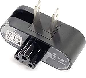 Original 08DHY9 Wall Plug Adapter Folding 3 Prong to 2 Pin Plug Compatible with Dell 24W, 30W, 45W for Dell Venue 11 Pro, Dell XPS13 XPS 13 2015-2020 Laptops