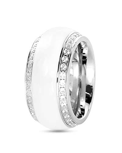 tamarismartha – Ring – Weiß: : Schmuck