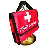 Jipemtra First Aid Bag Backpack, First Aid Backpack Empty Portable Outdoor Travel Small Rescue Bag Foldable Pouch Tote EVA Hard Case First Responder for Camping Sport
