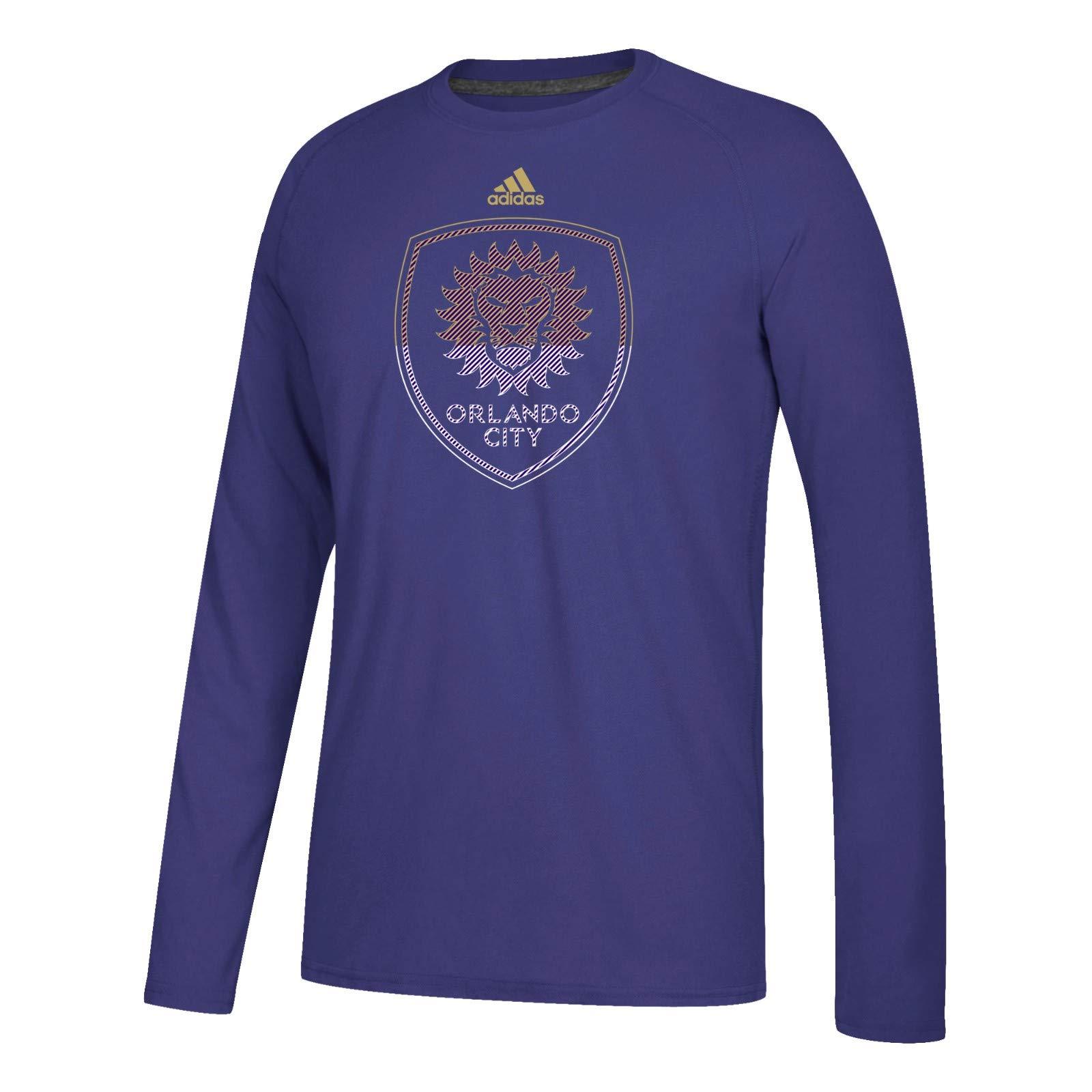 Orlando City Sc Mls S Purple Redirection Team Logo Climalite Ultimate Long Shirts