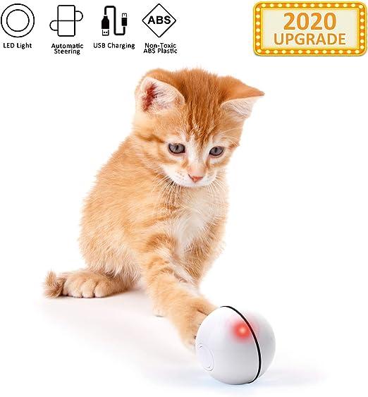 EKKONG Juguete Interactivo para Gato, Bola de Gato, Bola de ...