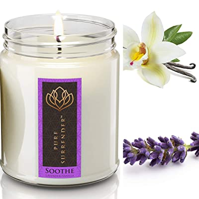 Aromatherapy 12 oz 100/% Soy Wax Vegan Calming Lavender Soy Candle Handmade