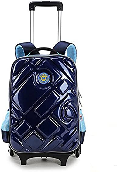18 in Puppy Design Kids Rolling Backpack Travel Luggage School Bag Trolley NEW
