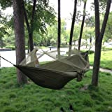 Enjoydeal Portable High Strength Parachute Fabric Hammock Hanging Bed With Mosquito Net For Outdoor Camping Travel