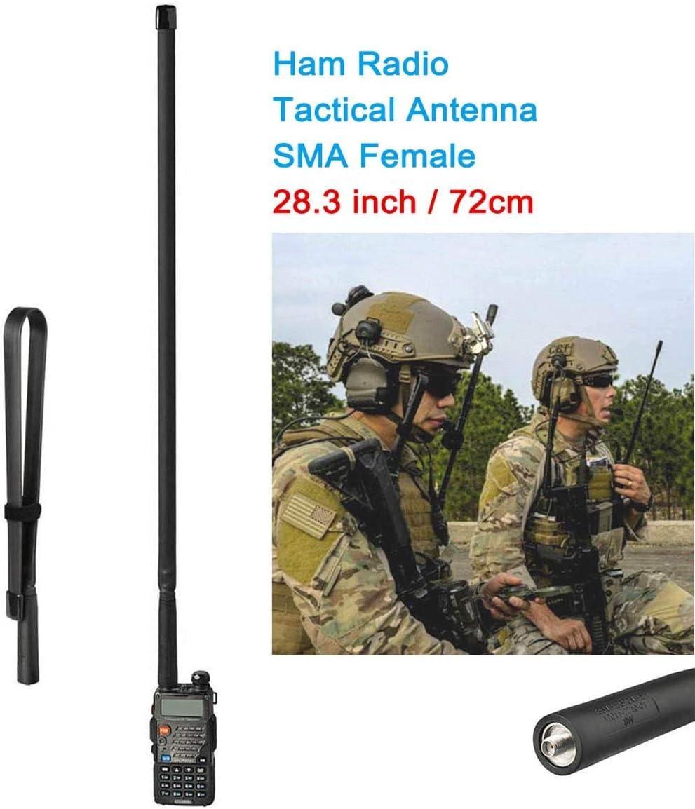 Bingfu radio antenna VHF UHF 136-520 MHz 72cm foldable CS tactical SMA socket amateur radio antenna Compatible with Kenwood Baofeng BF-F8HP UV-5R UV-82 BF-888S handheld CB amateur radio radio