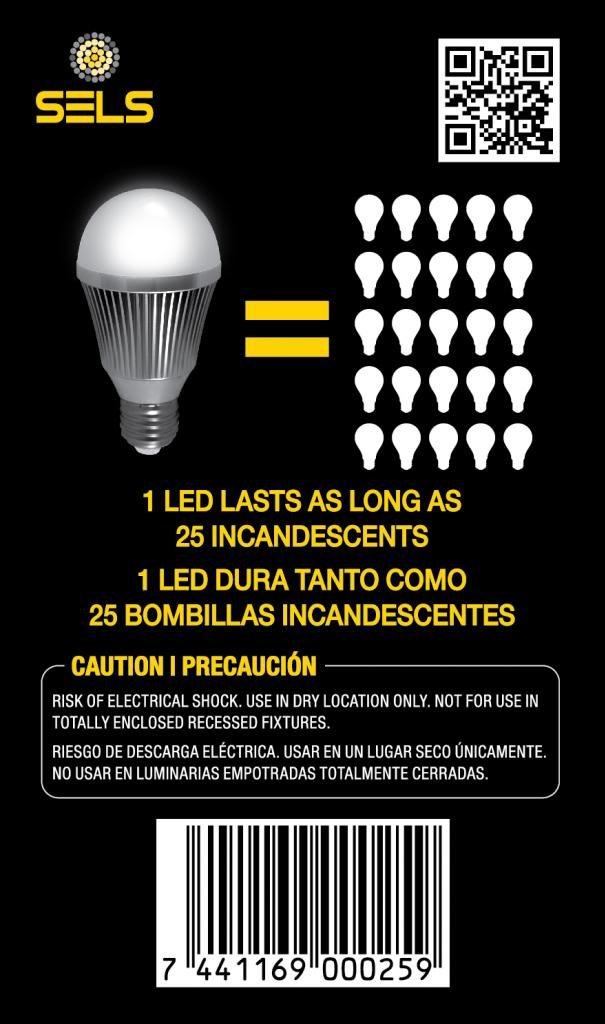 SELS 7 Watts 800 Lumens E26 Standard Base Led A60 Led light bulb - 60W Incandescent Bulbs Equivalent led bulb (6000K) Daylight White Color - 3 Pack - Led ...