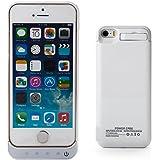 Zogin Coque Batterie Ultra Fin 4200mAh pour iPhone 5 5S 5C Haute capacité Batterie externe de secours rechargeable Housse batterie Power Case 6 couleurs à option – Blanc