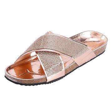 Ladies Women Summer Beach Espadrilles PomPom Slip On Sliders Mules Sandals Shoes