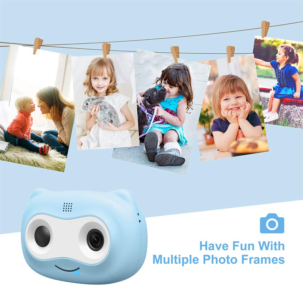 UJoyFeel Kids Camera Digital Camera for Kids 2.0 inch Toy Video Camera for Kids Girls Boys with 16GB Storage Rechargeable Battery and Soft Shockproof Case Outdoor Playing (Blue) by UJoyFeel (Image #3)