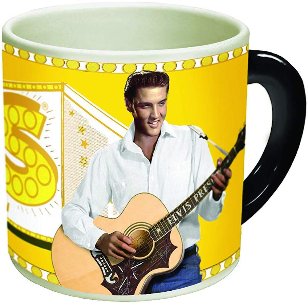 Timeless Elvis Presley Heat Changing Mug - Add Coffee or Tea and Elvis goes from Vegas to Memphis - Comes in a Fun Gift Box