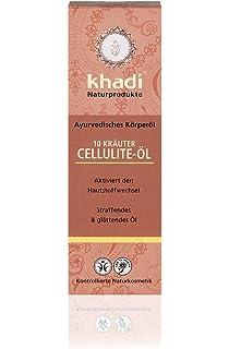 Khadi Aceite Celulítico de 10 Hierbas - Revitaliza, Estimula y Purifica la Piel - Ideal