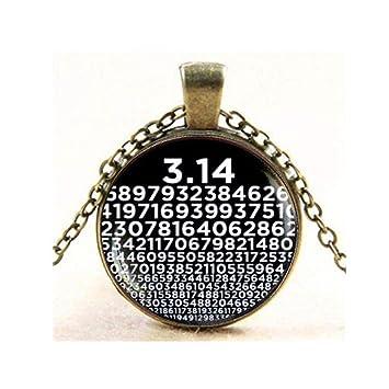 Pi collar, números de Pi colgante, matemáticas, collar de ...
