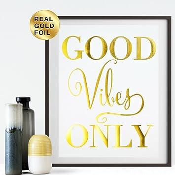 Amazon.com: Metallic Wall Decor For Living Room Office Bedroom - Art ...