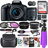Canon EOS Rebel T7i 24.2MP DSLR Camera with Canon 18-55mm STM Lens Bundle + 32GB SD Memory + High Definition Coated Filters + Spider Tripod + Professional Bundle with Corel Software Kit