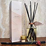 LOVSPA Hawaiian Sandalwood Essential Oil Reed Diffuser with Real Botanicals inside the bottle | Traditional Elegance with the Feel of Homey Comfort | Turn your House into a Home with
