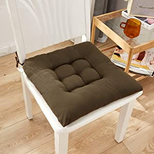 Patio Home Kitchen Office Chair Cushions, Outdoor Dining Room Washable for Garden Kitchen Office Seat Pad, Chair Cushions, Chair Pad(Coffee)