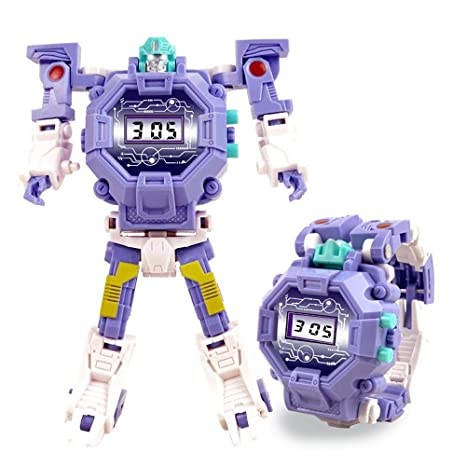 Umiwe 2 en 1 Robot Transformer Reloj Juguetes Niños Reloj Digital Juguetes educativos de Aprendizaje Creativo