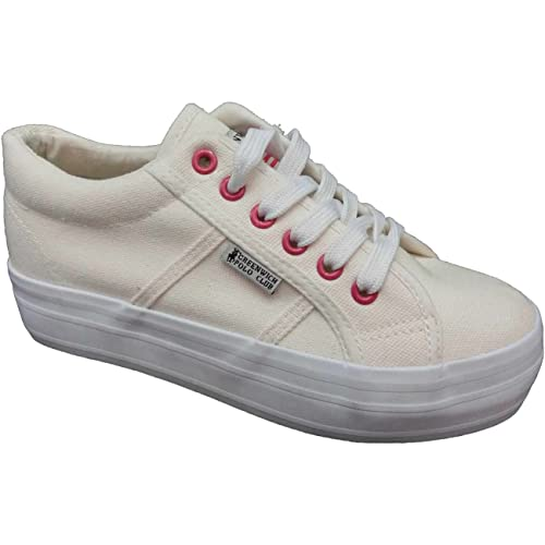 GREENWICH POLO CLUB - Zapatillas de Lona para Mujer Beige Arena 41 ...