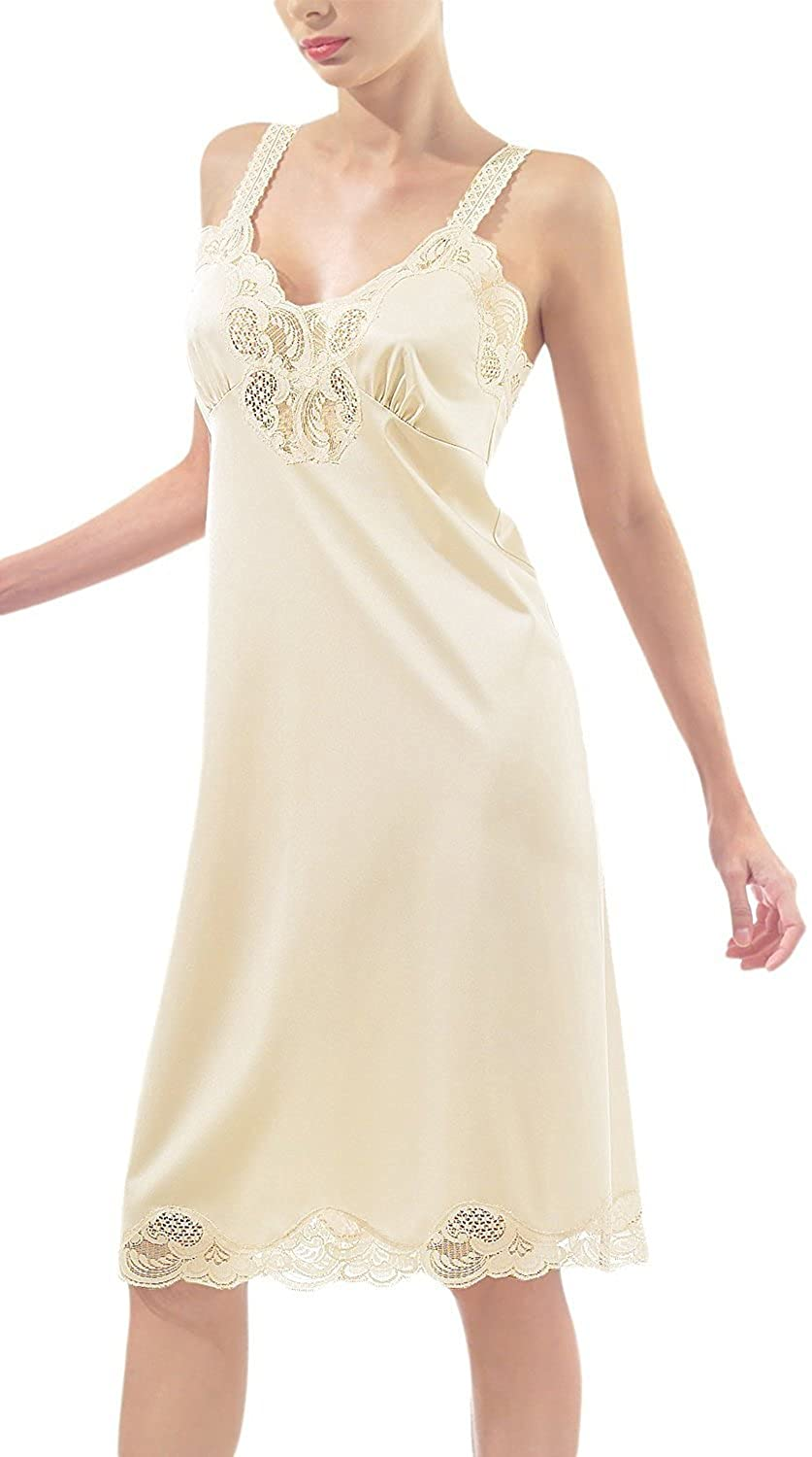 Under Moments Non- Cling Full Slip with Adjustable Straps Beige-36 UM-2012