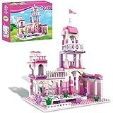Girls Princess Castle Building Blocks Toys Pink Palace King's Banquet Bricks Toys for Girls 6-12 Construction Play Set Educat