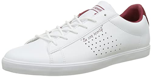 Le Coq Sportif Agate Lo, Zapatillas para Mujer, Blanco (Optical White/Rouge Ruby W), 38 EU: Amazon.es: Zapatos y complementos