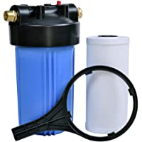 Hansing RV/Marine Water Filter System with Pleated Carbon Block, 25K Gallons Ultra High Capacity Garden Hose Filter, Reduces Chlorine, Bad Taste, Odors, VOCs, Sediment and More