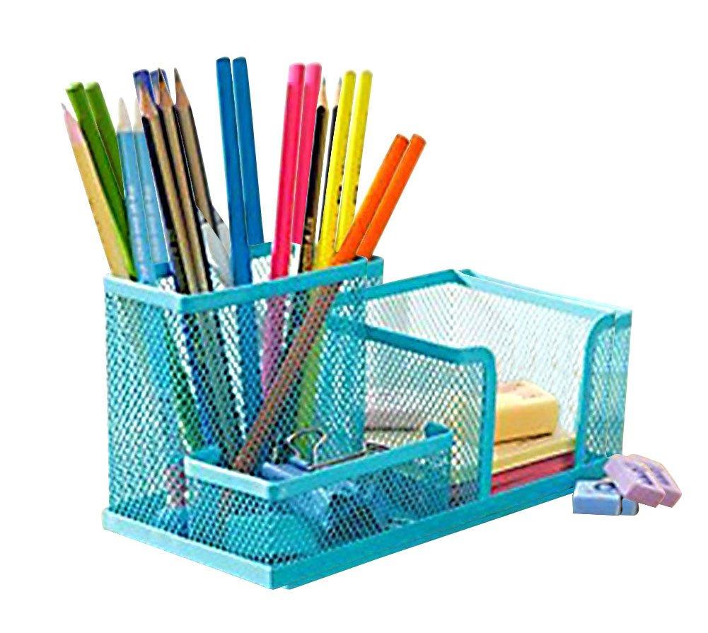 Cosanter, portapenne, organizer da scrivania per la vostra cancelleria–sistema di organizzazione scrivania–facile da impiegare 20.3*10.1*19.3cm Nero