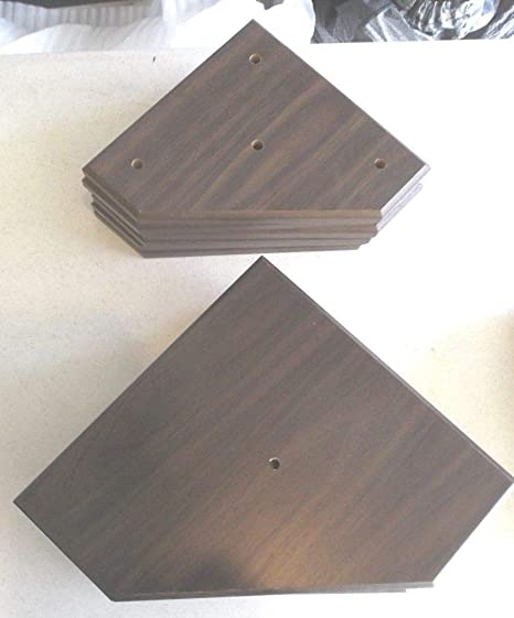 Amazon com : 6 Sets of Trophy Parts Walnut Finish for 3 Post Style 8