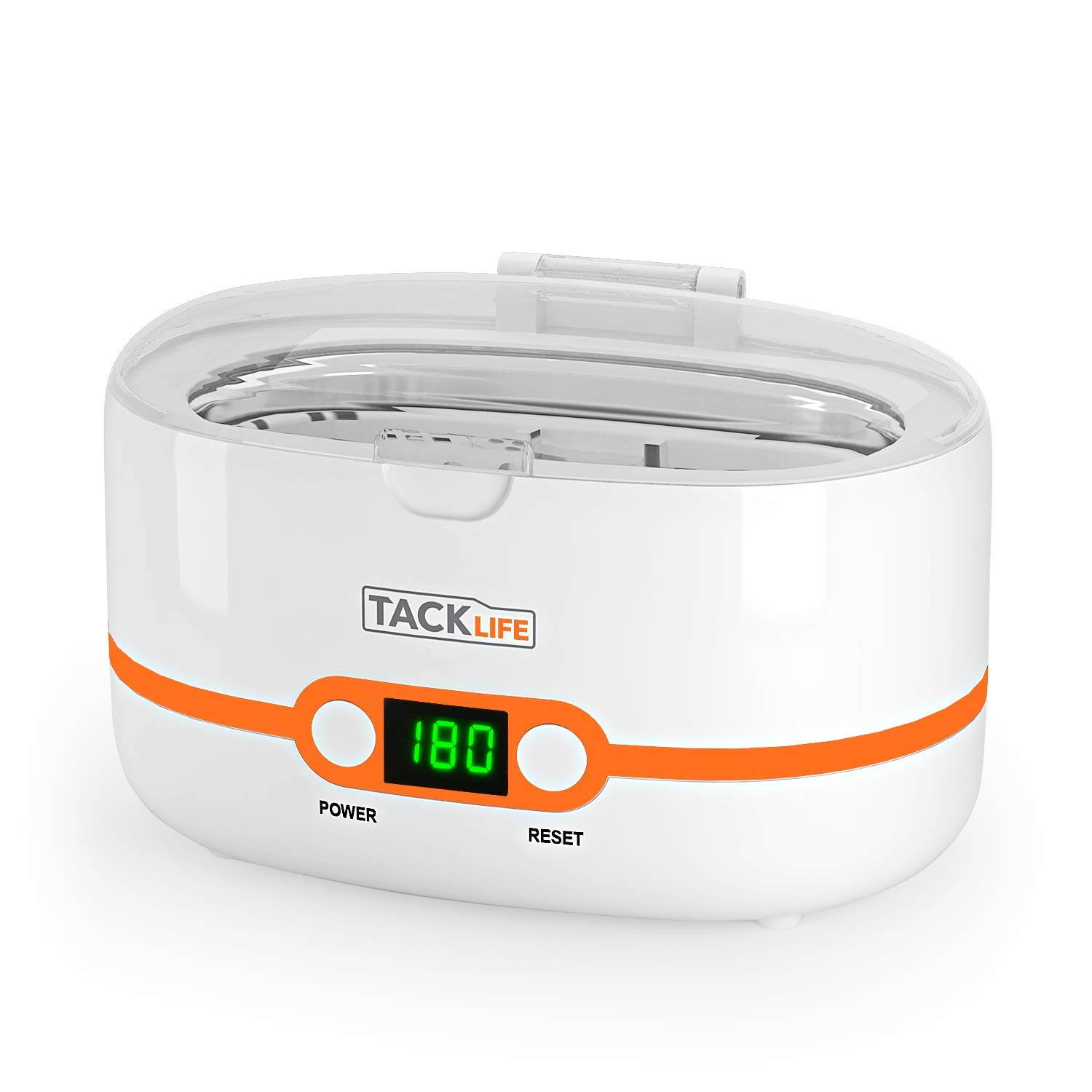 Ultrasonic Jewelry Cleaner, Tacklife MUC02 Professional Ultrasonic Cleaner with 5 Time Setting, 600ml Tank Capacity Jewelry Cleaner for Cleaning Eyeglasses, Watches, Rings, Dentures, Fruits, Parts