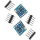 2pcs GY-271 QMC5883Lモジュール 3軸マグネットセンサーデジタルコンパスモジュール 3軸コンパス磁力計センサーモジュール 3軸電子コンパスモジュール 3軸磁気センサーモジュール