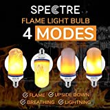 Spectre Fire Bulb LED Flickering Flame Effect Light 4 Modes with Upside Down Effect E26 E27 B22
