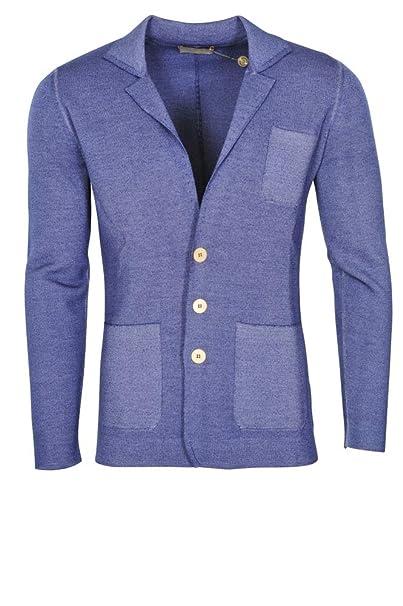 Cruciani Chaqueta Hombre Azul Solo Blazer Azul 50 Slim Fit