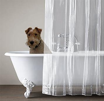 Amazon.com: Shower Curtain Liner by Bathworx. Clear, Mildew & Mold ...