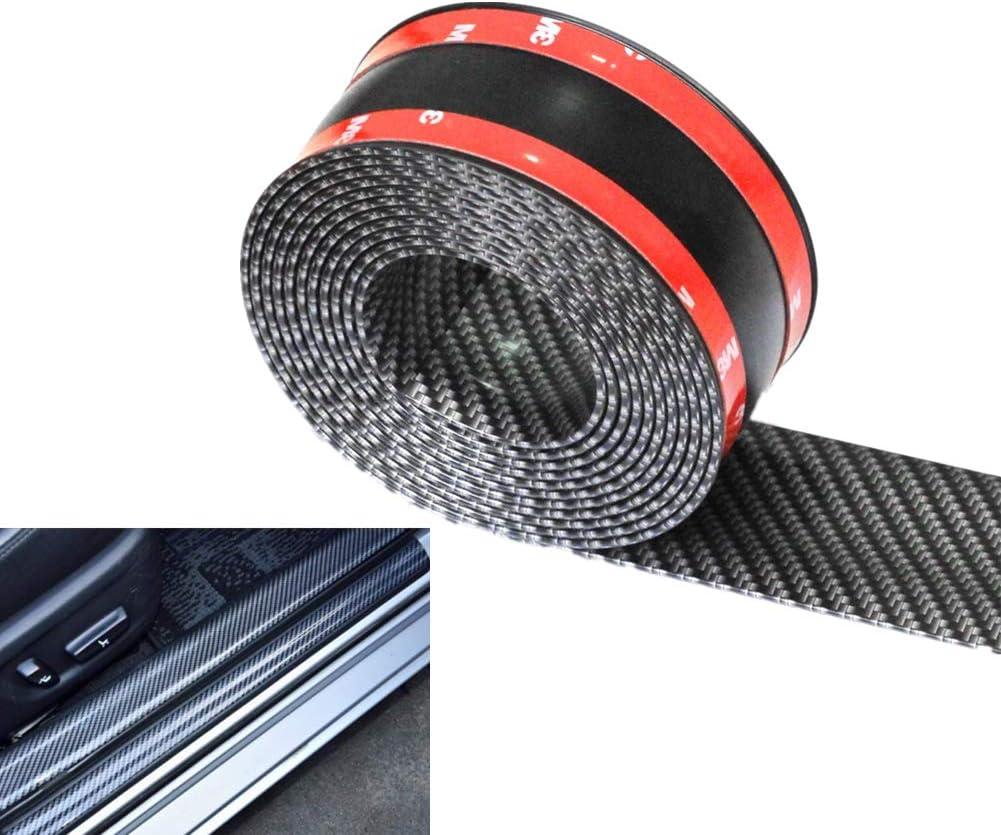 WL WeFoonLo Universal Carbon Fibre Car Door Sill Guards Protector Self-Adhesive Flexible Car Sticker Protector for Car SUV Truck Door Entry Guards,3x250cm//1.2x98.4 inches